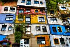 Camera di Hundertwasser a Vienna, Austria immagine stock libera da diritti