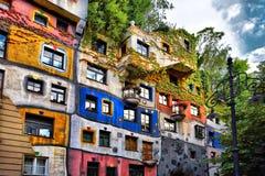 Camera di Hundertwasser a Vienna, Austria immagine stock