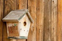 Camera di legno dell'uccello Fotografia Stock