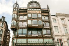 Camera di precedente vecchio grande magazzino dell'Inghilterra, ora costruita nel 1899, con la raccolta del museo degli strumenti Fotografia Stock Libera da Diritti