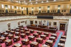 Camera di senato del Campidoglio dello stato di Oklahoma a Oklahoma City, GIUSTO fotografia stock libera da diritti