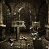 Camera di tortura medievale Fotografia Stock