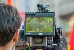 Camera die Madrid schieten stock fotografie