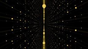 Camera die zich in een 3d net oneindige ruimtelijn bewegen De hoge achtergrond die van de Definitiemotie een oneindige tunnel ken Stock Foto
