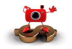 Camera on a dollar Stock Photography