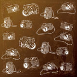 Camera Doodle Illustration Stock Image