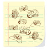 Camera Doodle Illustration Royalty Free Stock Image