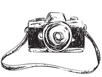 Camera Doodle Illustration Stock Images
