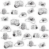 Camera Doodle Illustration Royalty Free Stock Images