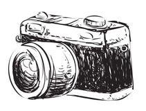 Camera Doodle Illustration Stock Photo