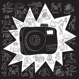 Camera draw objects Stock Images