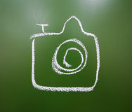 Camera drawn with chalk Royalty Free Stock Photography