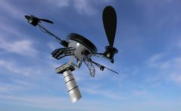 Camera drone flying Stock Photos