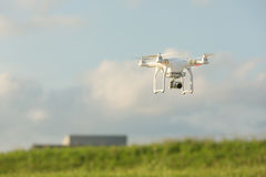 Camera Drone Flying in Sky Royalty Free Stock Images