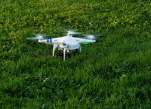 Camera drone ready for take off Royalty Free Stock Image