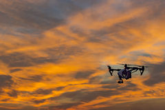 Camera Drone UAV Sunset Stock Images