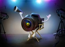 Camera DSLR Director On A Movie Set. Concept Royalty Free Stock Image