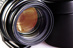 Camera dslr lens close-up Stock Photos