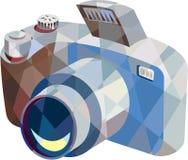 Camera DSLR Low Polygon Royalty Free Stock Photo