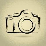 Camera DSLR met Penseelwerk Stock Afbeelding