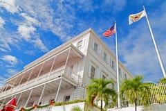 Camera e bandiere di governo sulla st Thomas Island Fotografia Stock Libera da Diritti