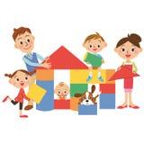 Camera e famiglia Fotografie Stock