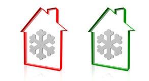 Camera e neve illustrazione di stock