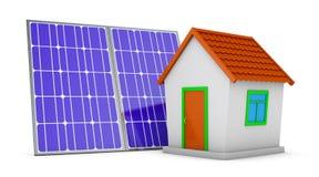 Camera e pannello solare royalty illustrazione gratis