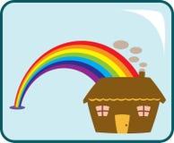 Camera e Rainbow illustrazione vettoriale