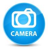 Camera elegant cyan blue round button Stock Images