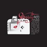 Camera Embleem van de fotostudio Stock Afbeeldingen
