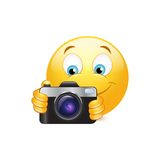 Camera emoticon Royalty Free Stock Image