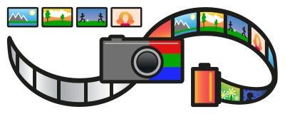 Camera en Film Stock Foto's