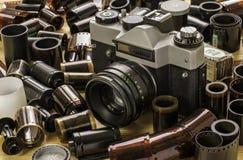 Camera en films Stock Afbeeldingen