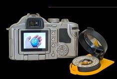 Camera en kompas 6 stock afbeeldingen