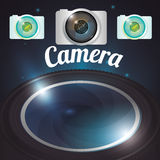 Camera equipment design Royalty Free Stock Photography