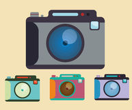 Camera equipment design Royalty Free Stock Images