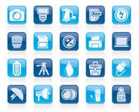 Camera equipment and photography icons Royalty Free Stock Photo