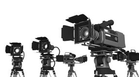 Camera and equipment Royalty Free Stock Images