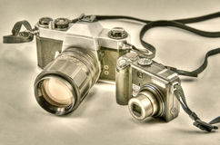 Camera evolution Stock Photography