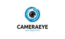 Camera Eye Logo. Minimalist and modern camera logo template. Simple work and adjusted to suit your needs stock illustration