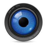 Camera eyes lens Stock Photography