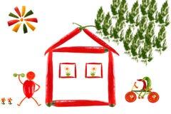 Camera fatta di peperoncino e delle verdure. Immagini Stock