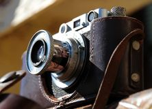 Camera FED. The old Soviet rangefinder film camera FED Stock Images