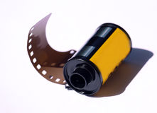 Camera film. Roll with shadow Royalty Free Stock Image