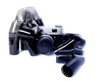 Camera and film Royalty Free Stock Photos