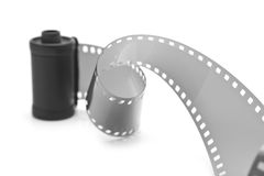 Camera film. On a white background Stock Image