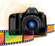 Camera and film Royalty Free Stock Photography