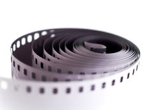 Camera film. 35 mm camera film isolated on white Royalty Free Stock Photography