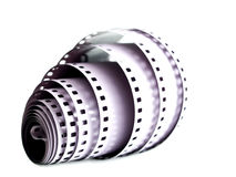 Camera film. 35 mm camera film isolated on white Royalty Free Stock Photos
